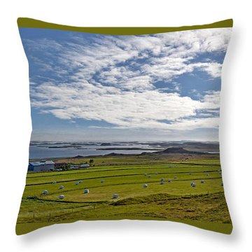 Throw Pillow featuring the photograph Icelandic Panorama by Joe Bonita
