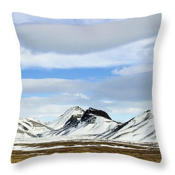 Icelandic Wilderness Throw Pillow
