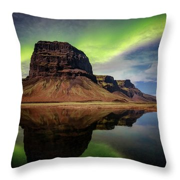Icelanding Aurora Throw Pillow