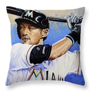 Ichiro Throw Pillow