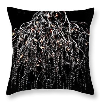 Icicle Chandelier Throw Pillow by Angela Davies