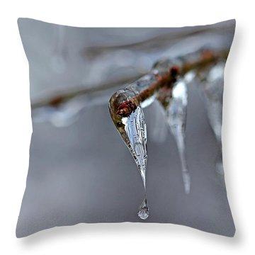 Icicle Teardrop Throw Pillow
