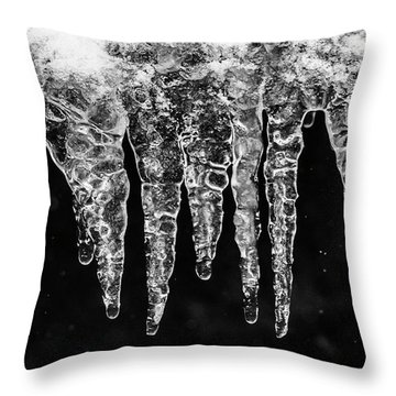 Icicles I Throw Pillow