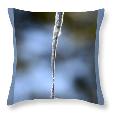 Icicles In Bloom Throw Pillow