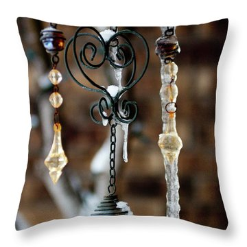 Icicles Throw Pillow by Jill Smith