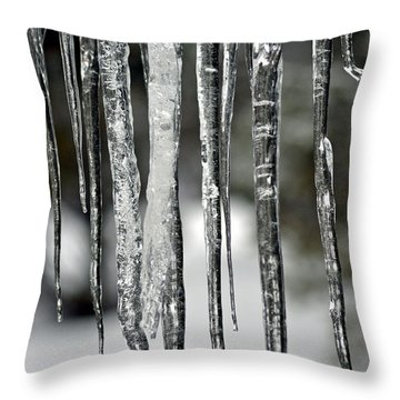 Throw Pillow featuring the photograph Icicles by Juls Adams