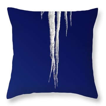 Throw Pillow featuring the photograph Icicles by Shane Bechler