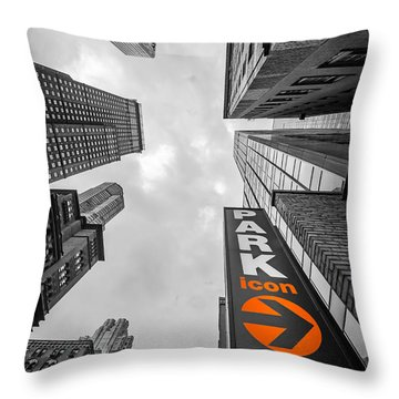 Icon Bw Throw Pillow