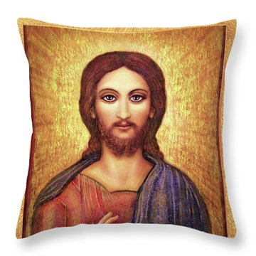 Icon Christ Throw Pillow