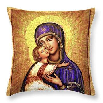 Icon Madonna Throw Pillow