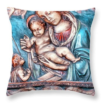 Icon Of Madonna Mother Of God  Throw Pillow