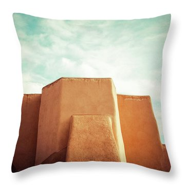 Throw Pillow featuring the photograph Iconic Church In Taos by Marilyn Hunt