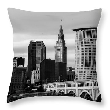 Iconic Cleveland Throw Pillow