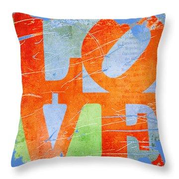 Iconic Love - Grunge Throw Pillow