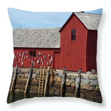 Iconic Rockport Ma Throw Pillow