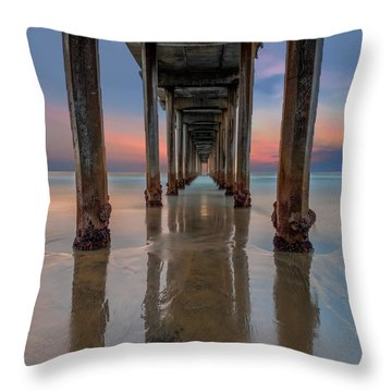 Iconic Scripps Pier Throw Pillow