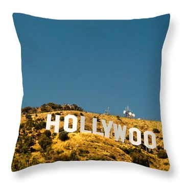 Iconic Shot - Beachwood Canyon Throw Pillow