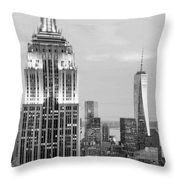 Iconic Skyscrapers Throw Pillow by Az Jackson