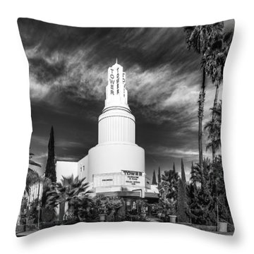Iconic Tower Theatre Throw Pillow