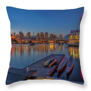 Iconic Vancouver Throw Pillow