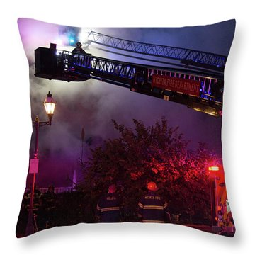 Ict - Burning Throw Pillow