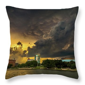 ict Storm - High Res Throw Pillow