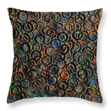 Throw Pillow featuring the mixed media Icy Abstract 12 by Sami Tiainen