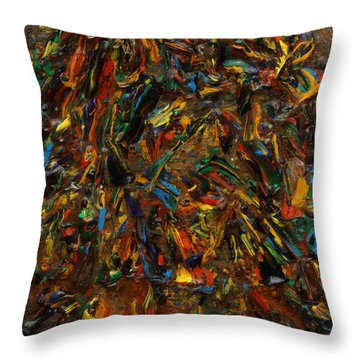 Throw Pillow featuring the mixed media Icy Abstract 2 by Sami Tiainen