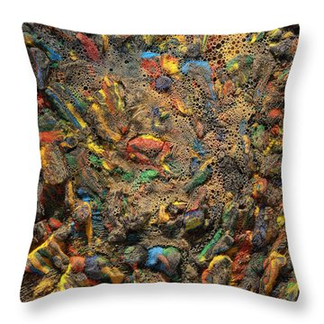 Throw Pillow featuring the mixed media Icy Abstract 4 by Sami Tiainen
