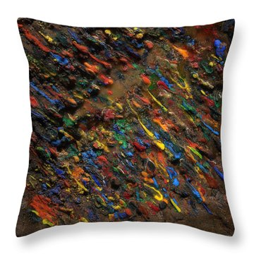 Throw Pillow featuring the mixed media Icy Abstract 5 by Sami Tiainen