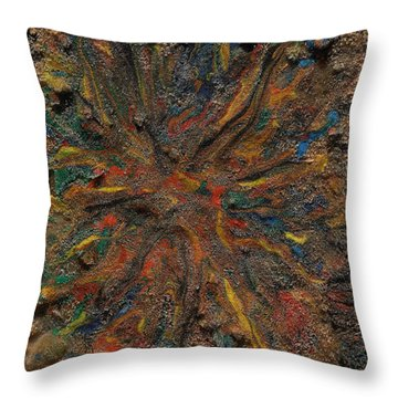 Throw Pillow featuring the mixed media Icy Abstract 6 by Sami Tiainen
