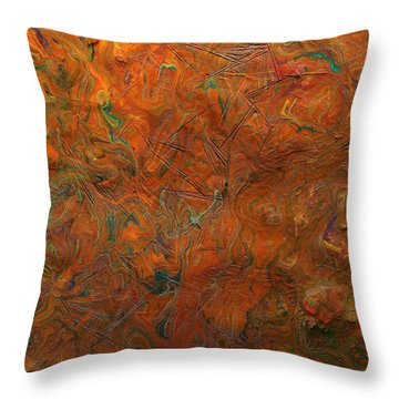 Throw Pillow featuring the mixed media Icy Abstract 8 by Sami Tiainen