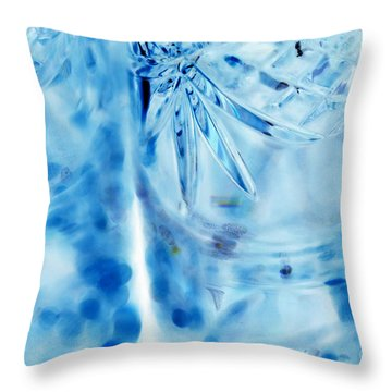 Icy Throw Pillow by Amanda Barcon