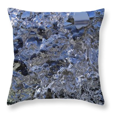Throw Pillow featuring the photograph Icy Beach View 1 by Sami Tiainen