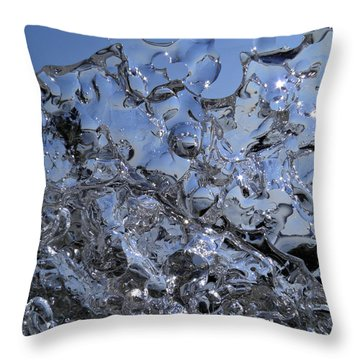 Throw Pillow featuring the photograph Icy Beach View 2 by Sami Tiainen