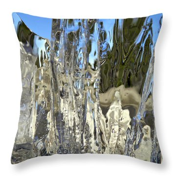 Icy Beach View 5 Throw Pillow by Sami Tiainen
