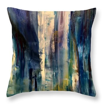 Icy Cavern Abstract Throw Pillow