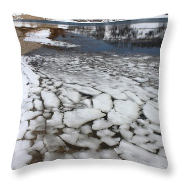 Icy Cove Port Jefferson New York Throw Pillow