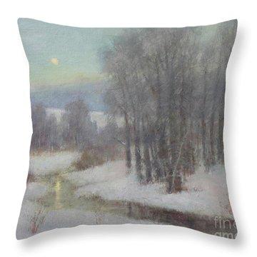 Icy Evening Throw Pillow