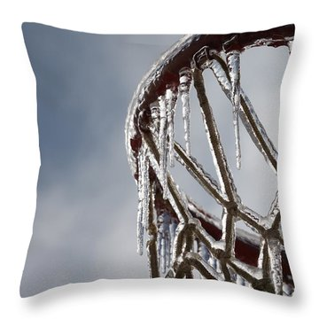 Icy Hoops Throw Pillow by Nadine Rippelmeyer