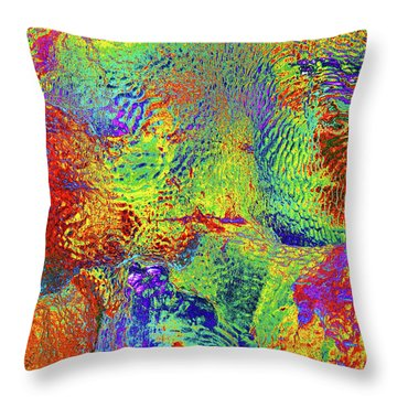 Throw Pillow featuring the photograph Icy Kaleidoscope by Tony Beck