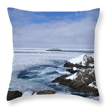 Icy Ocean Slush Throw Pillow