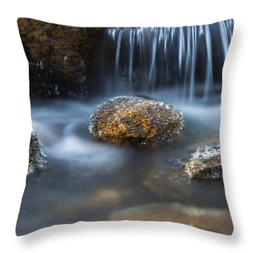 Throw Pillow featuring the photograph Icy Rocks On The Coxing Kill #1 by Jeff Severson