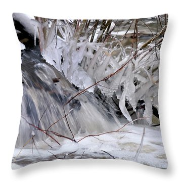 Icy Spring Throw Pillow
