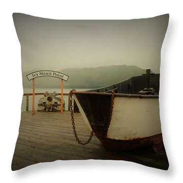 Icy Strait Point Boat Throw Pillow
