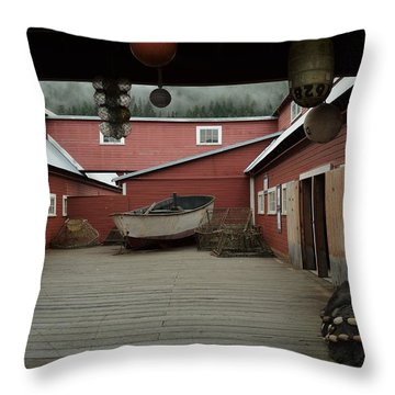 Icy Strait Point Cannery Museum Throw Pillow