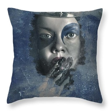Icy Window Reflection. Wicked Queen Of Winter Throw Pillow