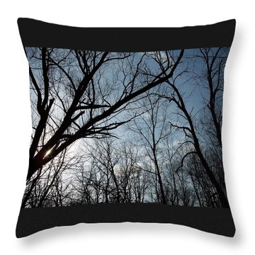 Icy Winter Sky Throw Pillow