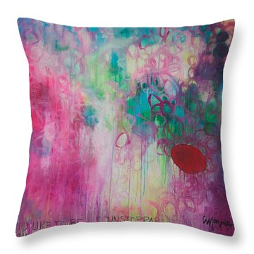 Throw Pillow featuring the painting Id Like To Be Unstoppable by Laurie Maves ART