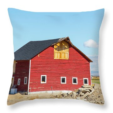 Idaho Barn Throw Pillow